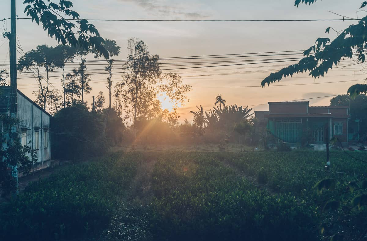 Sunrise in Vinh Long, Vietnam