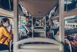 Futa sleeper bus to Vinh Long, Vietnam