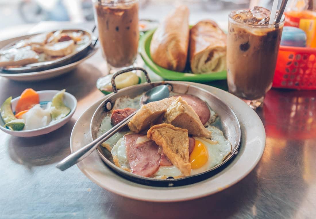 Banh Mi Op La, Banh Mi Hoa Map, Vietnamese Food