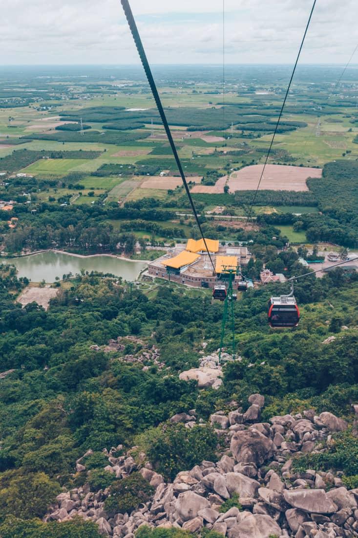 Cable cars to peak, Ba Den, Vietnam
