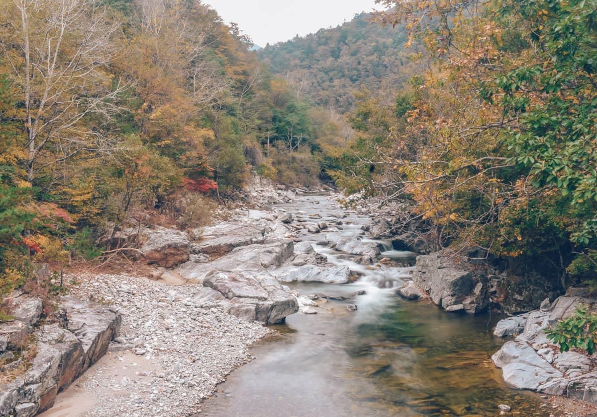 Hiking Odaesan, Korea