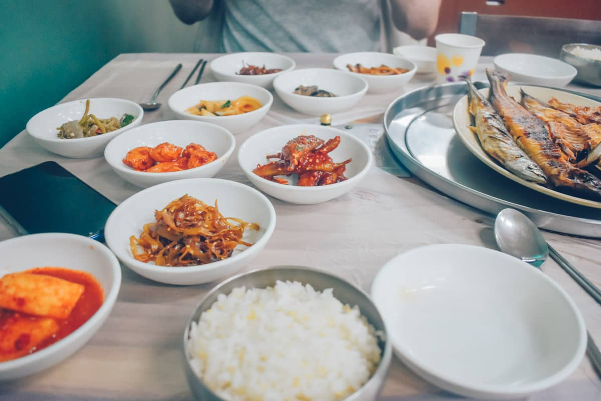 Fish restaurant near Odaesan