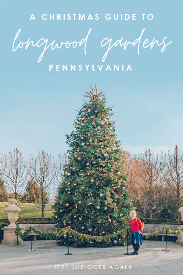 All you need to know for a Longwood Gardens Christmas visit! From displays in the Conservatory to events, lights, and more! | pennsylvania travel, pa travel, longwood gardens pennsylvania,