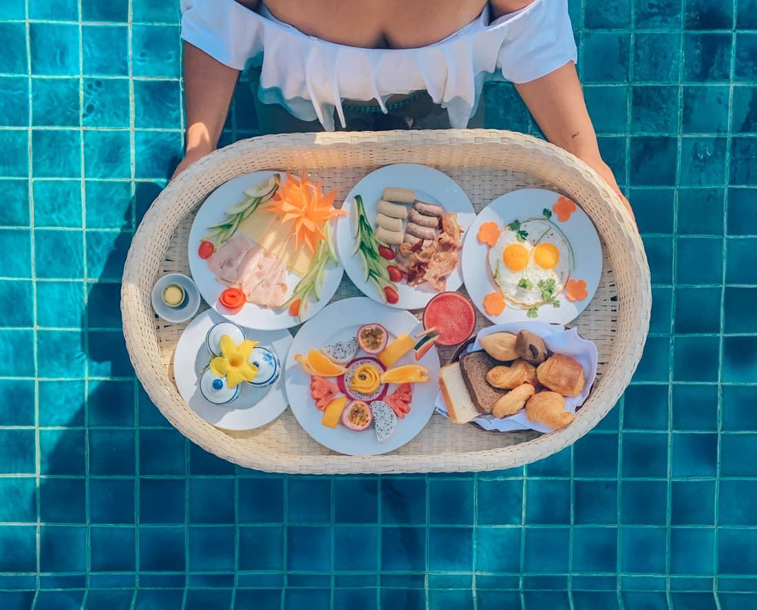Pool Breakfast, Victoria Phan Thiet, Vietnam