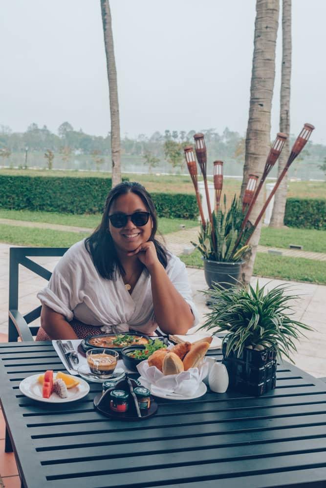 Breakfast at Azerai La Residence Hue, Vietnam