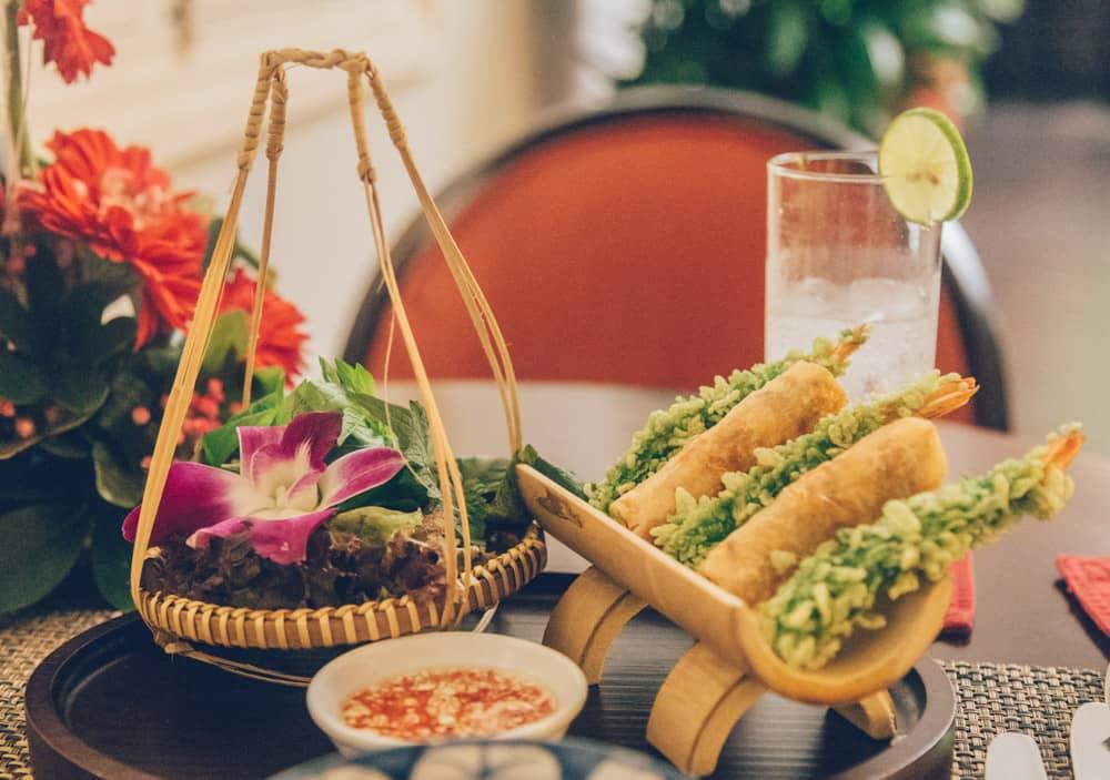 Dinner at Azerai La Residence Hue, Vietnam