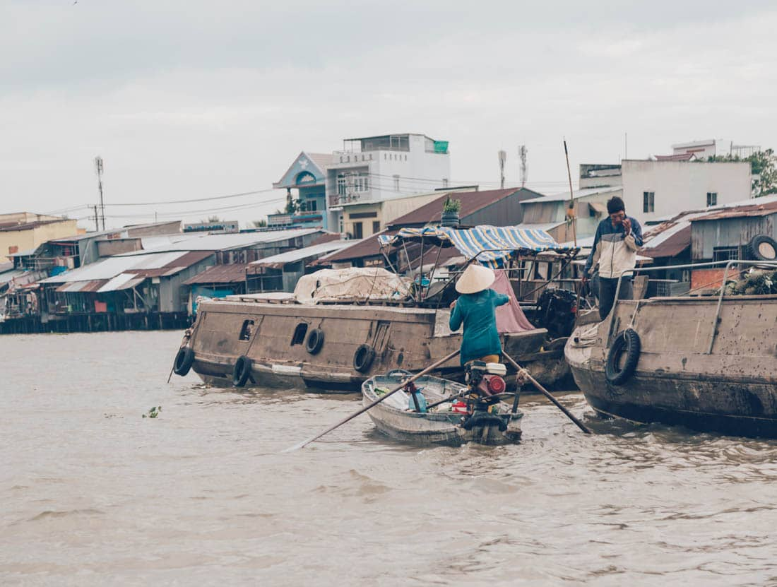 Cai Rang Floating Market near Can Tho, Vietnam