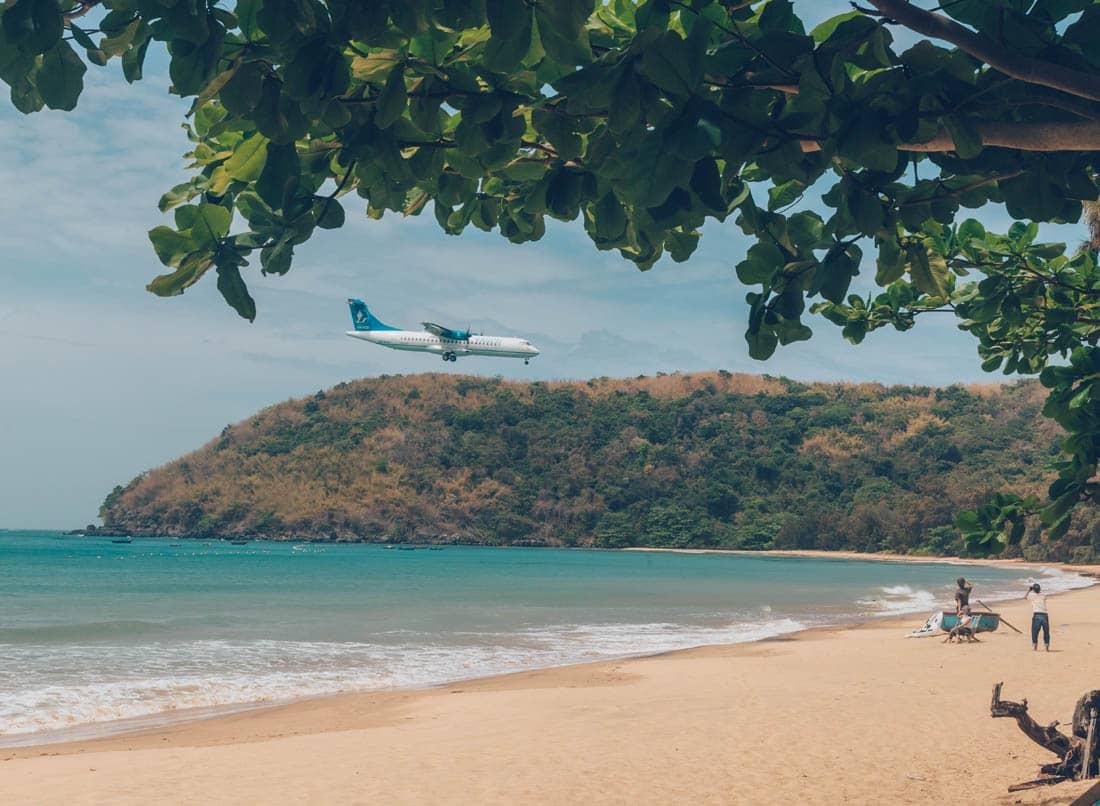 Dam Trau Beach (the airplane beach), Con Dao, Vietnam