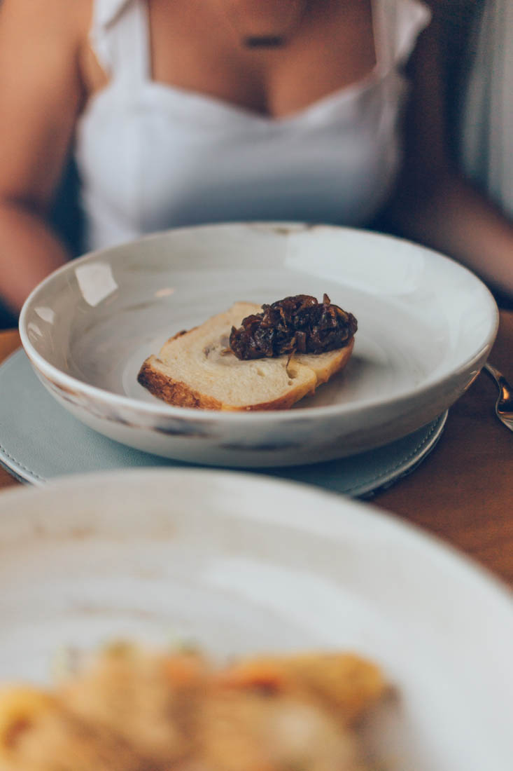 Foie Gras Terrine & Duck Confit, gourmet dining aboard the Vietage, Vietnam