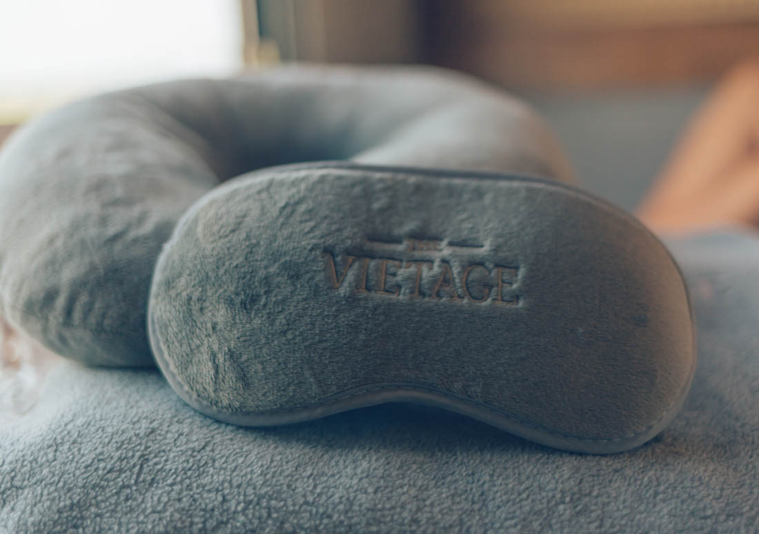 Sleeping mask, neck pillow, and blanket - the Vietage, Vietanam