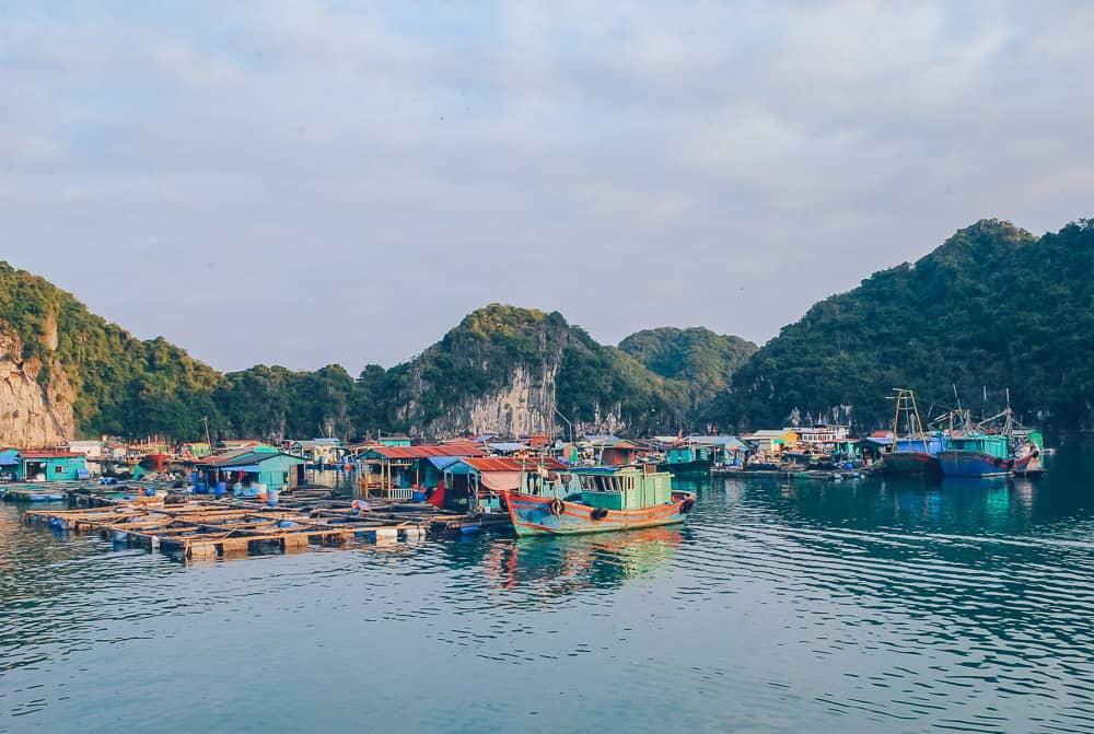 Fishing Village, Halong Bay, Vietnam