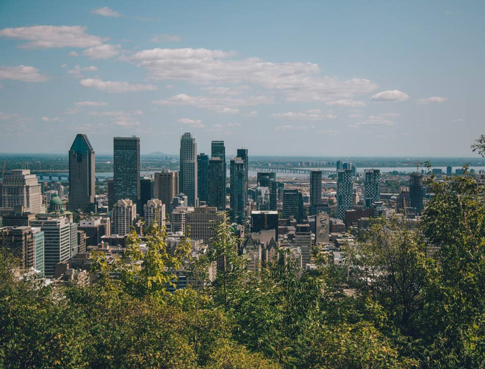 View from Mont Royal, Montreal, Quebec, Canada