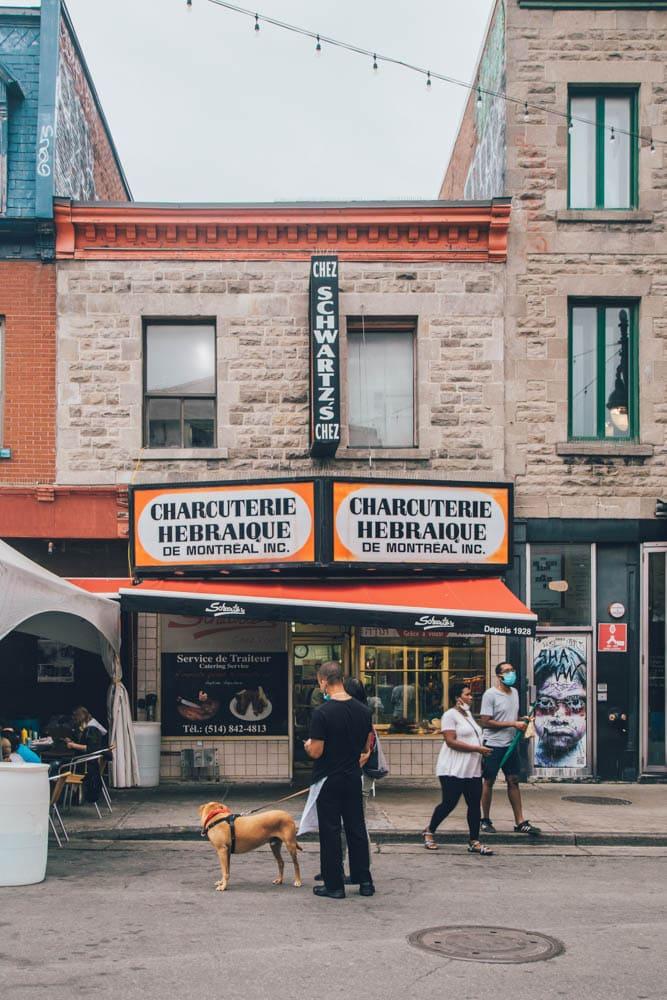 Schwartz's Deli, St. Laurent, Montreal, Quebec, Canada