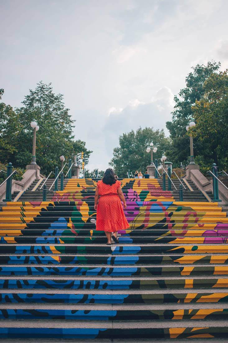 Mural Stairs, ByWard Market, Ottawa, Canada