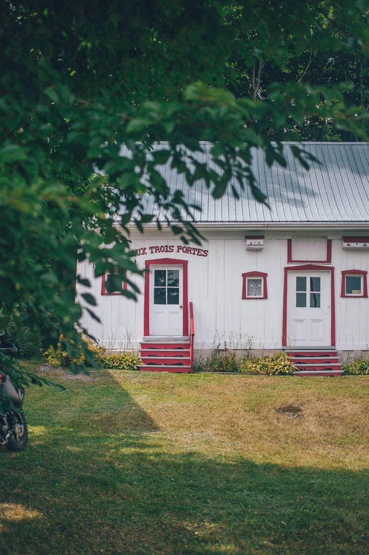 Houses, Ile d'Orleans, Quebec City, Canada