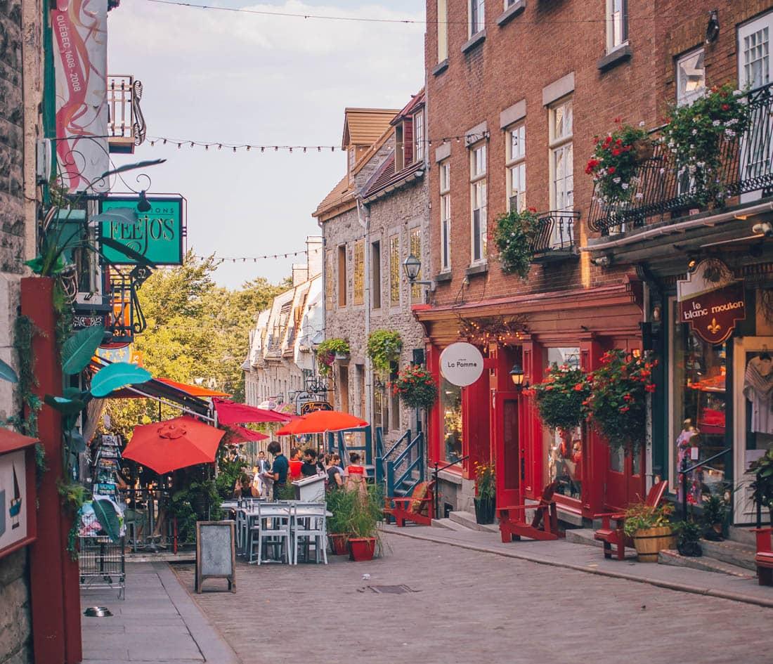 Rue Petit Champlain, Quebec City, Canada