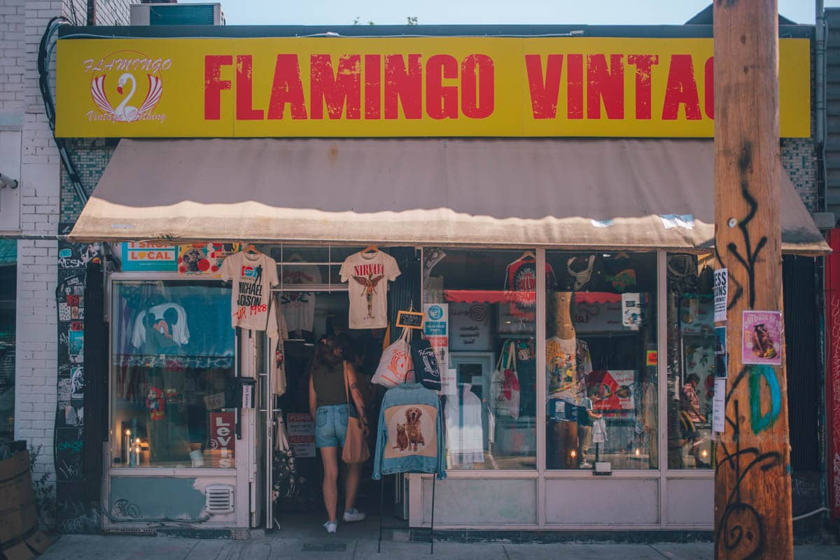 Flamingo Vintage, Kensington Market, Toronto, Ontario, Canada