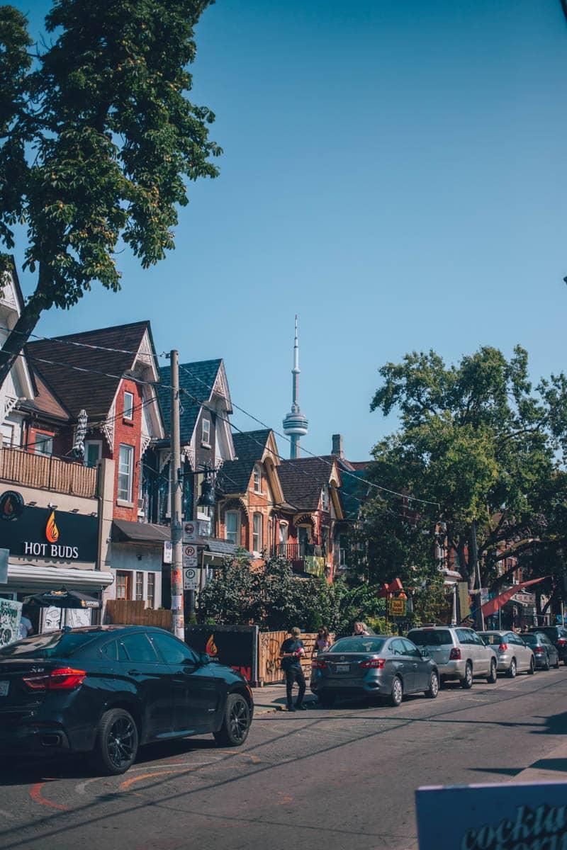Kensington Ave Victorian Houses, Kensington Market, Toronto, Ontario, Canada