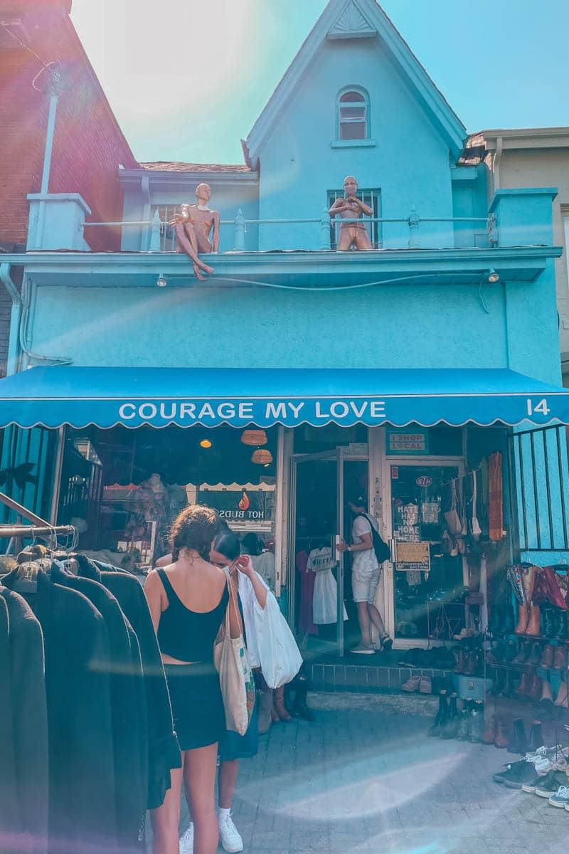 Courage My Love, Kensington Market, Toronto, Ontario, Canada